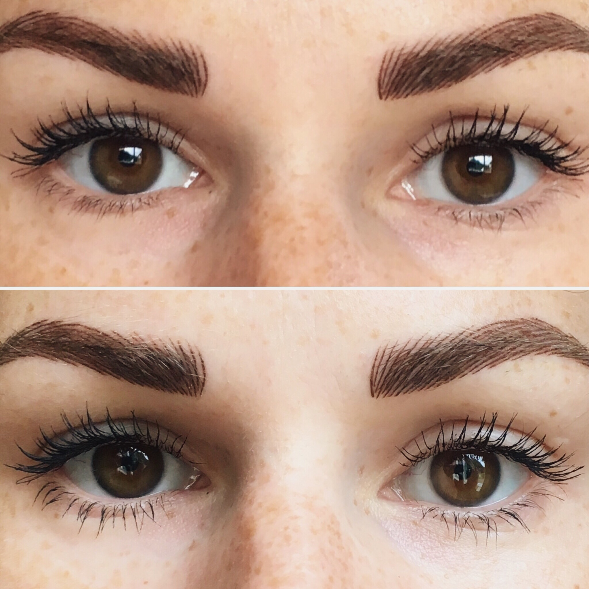 45471a51ad6 ... Top: Mascara applied on upper lashes, Bottom: Mascara applied on both  upper and lower lashes